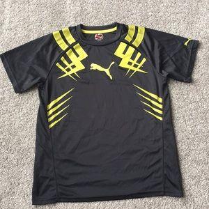 Puma SZ L Boys Short Sleeve T Shirt Preowned